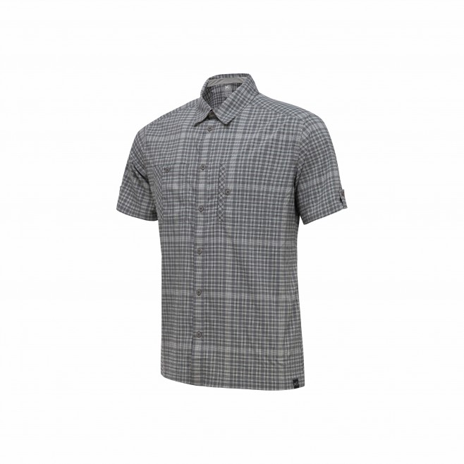 Trekking - Men's shirt - Grey CASTLE PEAK STRETCH SHIRT SS Millet