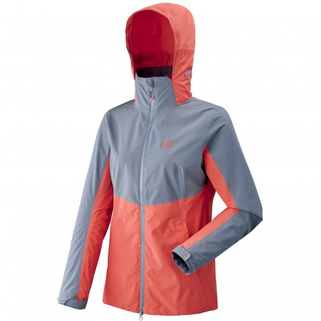 Women's waterproof jacket - hiking - blue LD HIGHLAND 2L JKT Millet