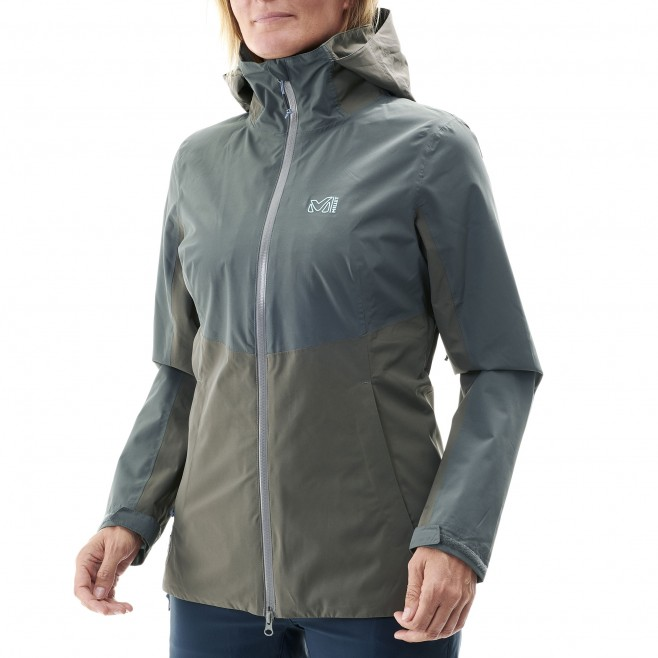 Women's waterproof jacket - hiking - khaki LD HIGHLAND 2L JKT Millet 6