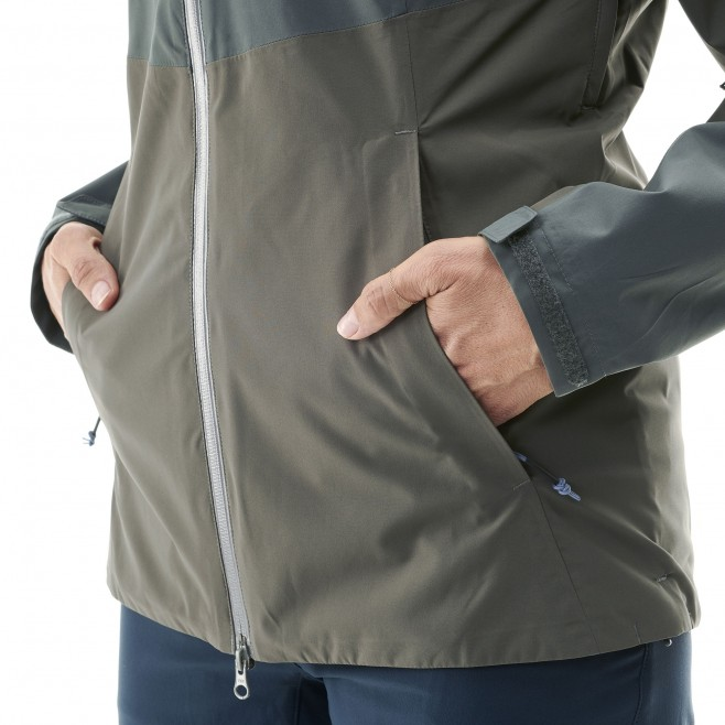 Women's waterproof jacket - hiking - khaki LD HIGHLAND 2L JKT Millet 9