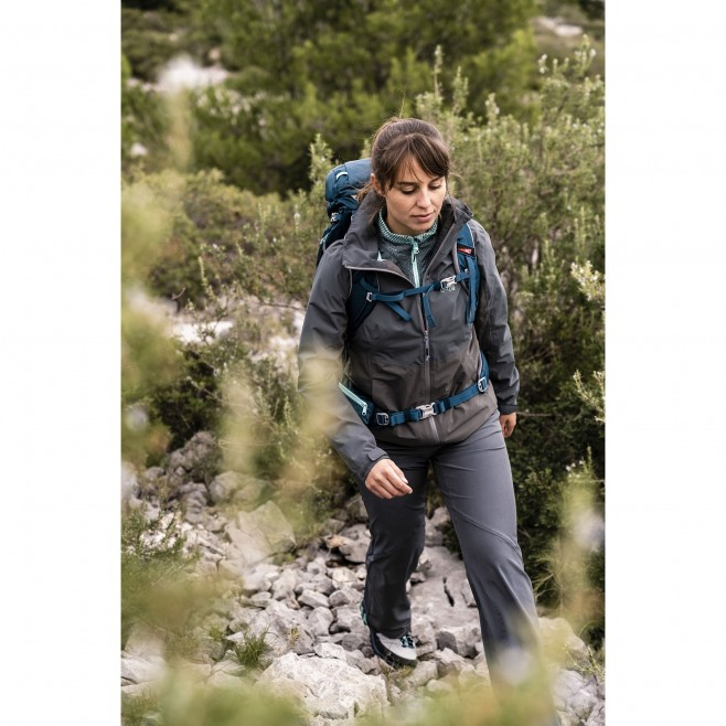 Women's waterproof jacket - hiking - blue LD HIGHLAND 2L JKT Millet 4