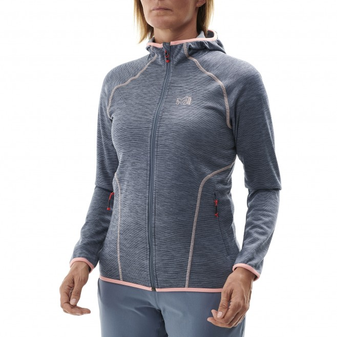 Women's lightweight fleecejacket - hiking - blue LD TWEEDY MOUNTAIN HOODIE Millet 2