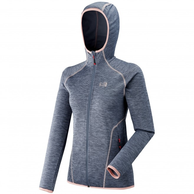 Women's lightweight fleecejacket - hiking - blue LD TWEEDY MOUNTAIN HOODIE Millet