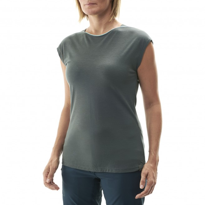 Women's tee-shirt - grey CLOUD PEAK WOOL TS SS W Millet 2