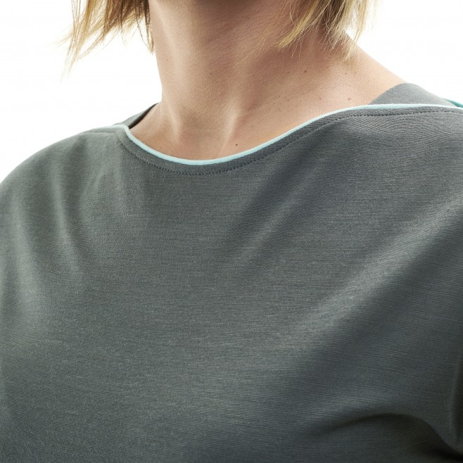 Women's tee-shirt - grey CLOUD PEAK WOOL TS SS W Millet 4