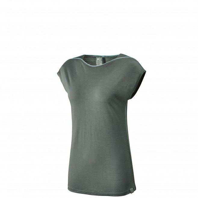 Women's tee-shirt - grey CLOUD PEAK WOOL TS SS W Millet