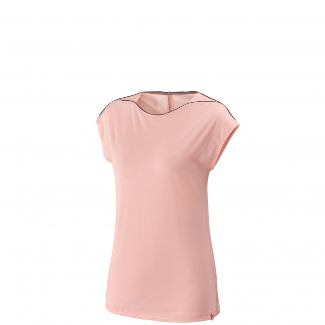 Women's tee-shirt - pink CLOUD PEAK WOOL TS SS W Millet