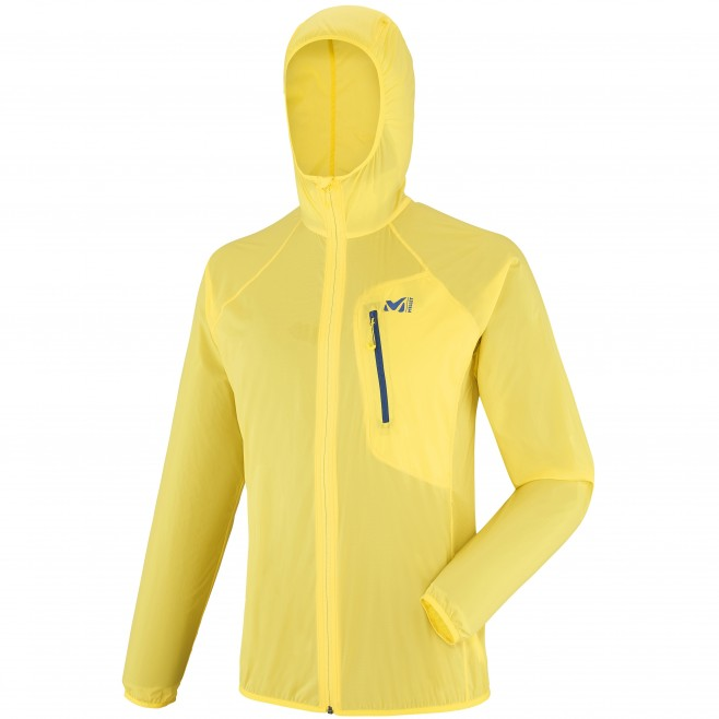 Trail running - Men's jacket - Yellow LTK AIRSTRETCH HOODIE Millet