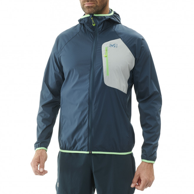 Men's lightweight jacket - trail running - navy-blue LTK AIRSTRETCH HOODIE Millet 2