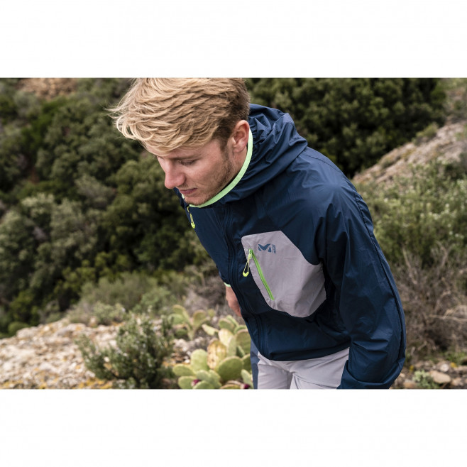 Men's lightweight jacket - trail running - navy-blue LTK AIRSTRETCH HOODIE Millet 5