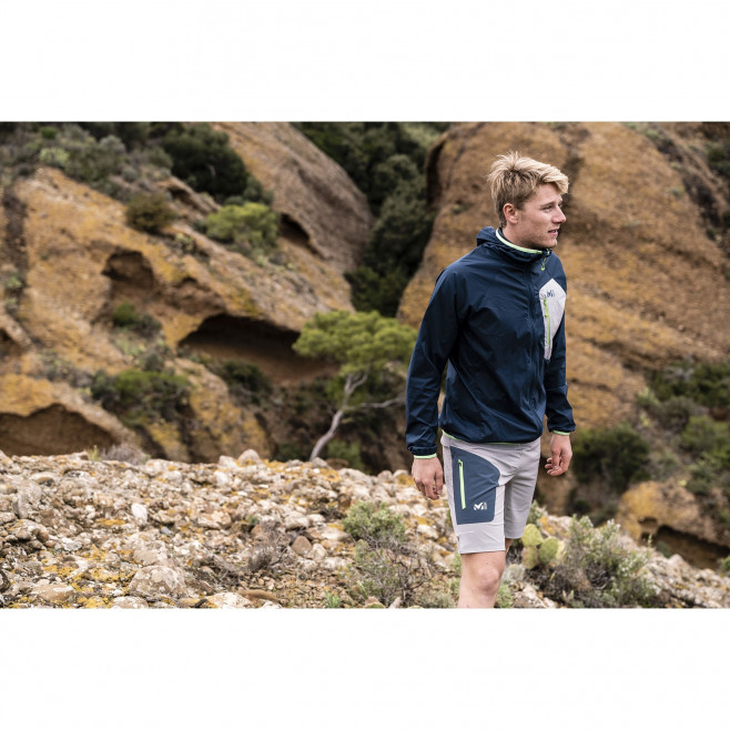 Men's lightweight jacket - trail running - navy-blue LTK AIRSTRETCH HOODIE Millet 6