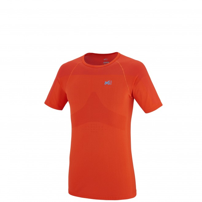 Trail running - Men's t-shirt - Orange LTK SEAMLESS TS SS Millet