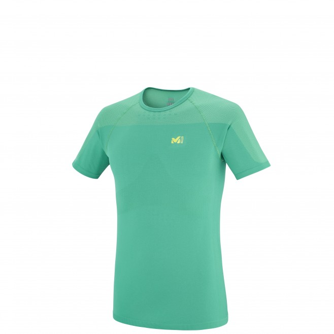 Trail running - Men's t-shirt - Green LTK SEAMLESS TS SS Millet