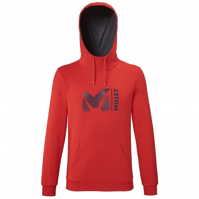 Men's sweat - red MILLET SWEAT HOODIE M Millet