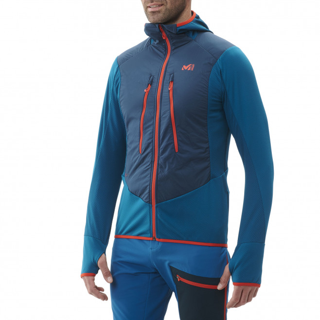 Men's warm jacket - blue Extrutoralpha H Orion Blue/Cosmic Blue Millet 2