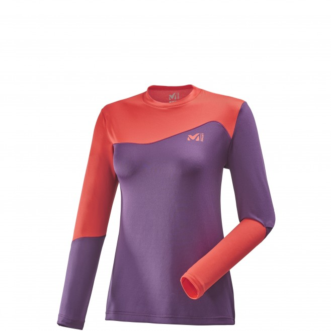 Women's underwear - ski touring - purple LD M WHITE NEO TOP Millet