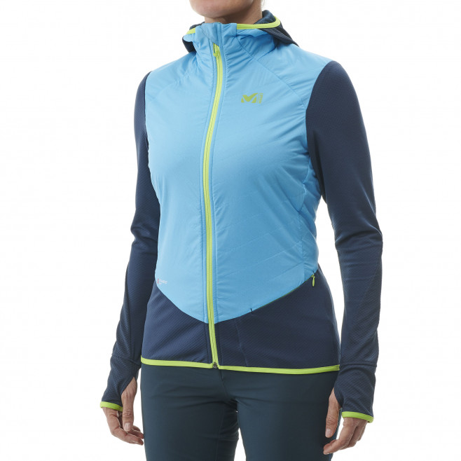 Women's warm jacket - blue EXTREME RUTOR ALPHA COMPO HOODIE W Millet 2