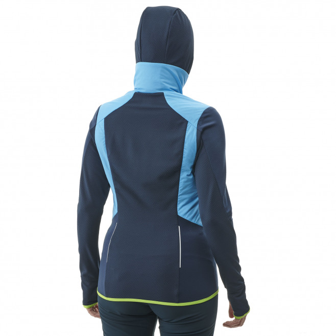 Women's warm jacket - blue EXTREME RUTOR ALPHA COMPO HOODIE W Millet 3