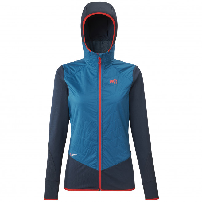 Women's warm jacket - blue EXTREME RUTOR ALPHA COMPO HOODIE W Millet