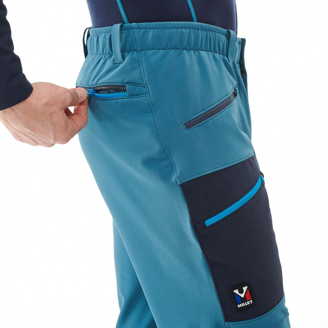 Men's wind resistant pant - blue TRILOGY WOOL PANT Millet 4