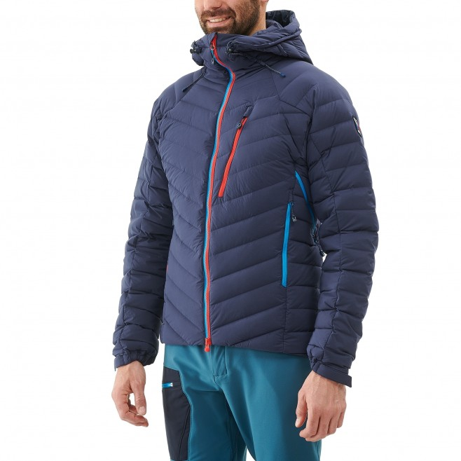 Men's down jacket - mountaineering - navy-blue TRILOGY SYNTH'X STRETCH DOWN JKT Millet 6