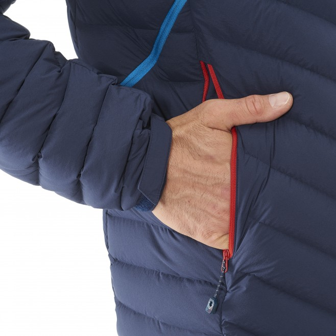 Men's down jacket - mountaineering - navy-blue TRILOGY SYNTH'X STRETCH DOWN JKT Millet 7