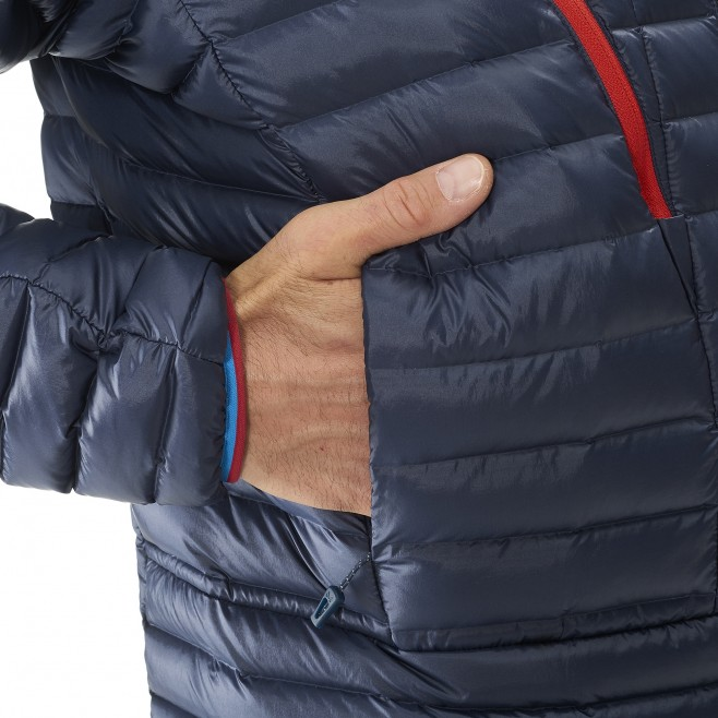 Men's down jacket - mountaineering - blue TRILOGY SYNTH'X DOWN HOODIE Millet 5