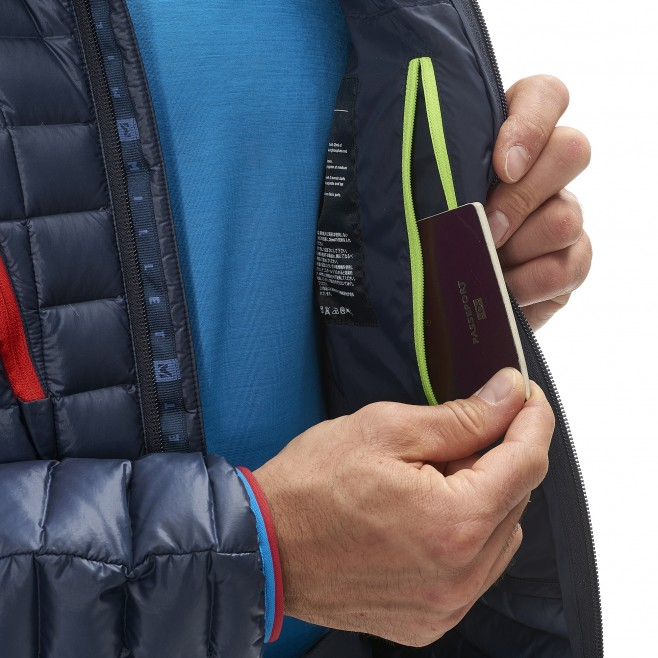 Men's down jacket - mountaineering - blue TRILOGY SYNTH'X DOWN HOODIE Millet 7