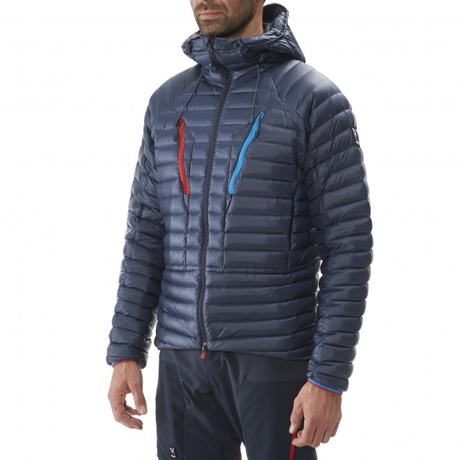Men's down jacket - mountaineering - blue TRILOGY SYNTH'X DOWN HOODIE Millet 3