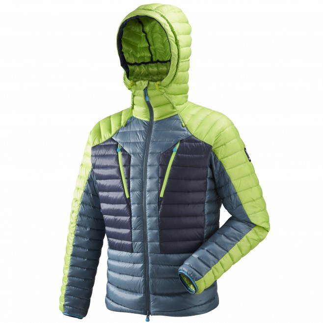 Men's down jacket - mountaineering - blue TRILOGY SYNTH'X DOWN HOODIE Millet