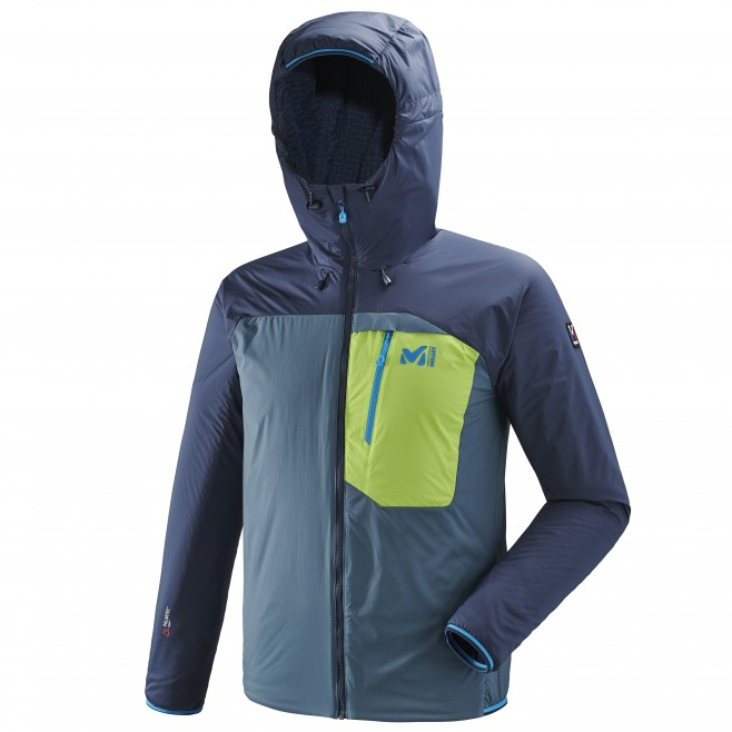 Men's warm jacket - mountaineering - blue TRILOGY ONE ALPHA D HOODIE Millet