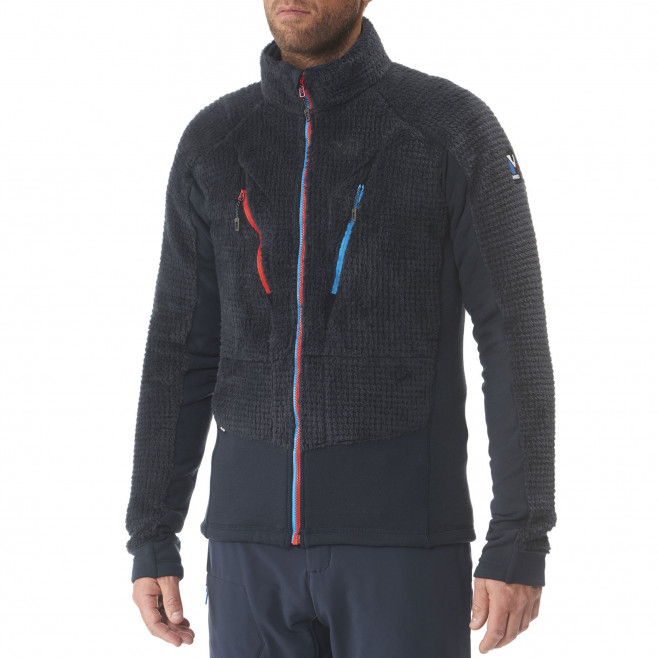 Men's very warm fleecejacket - blue TRILOGY X WOOL JKT Millet 3