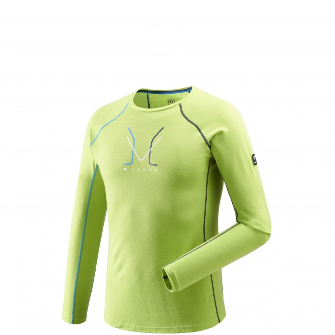 ... Men s long sleeves t-shirt - mountaineering - green TRILOGY WOOL TS LS  Millet ... 5f5717aa3