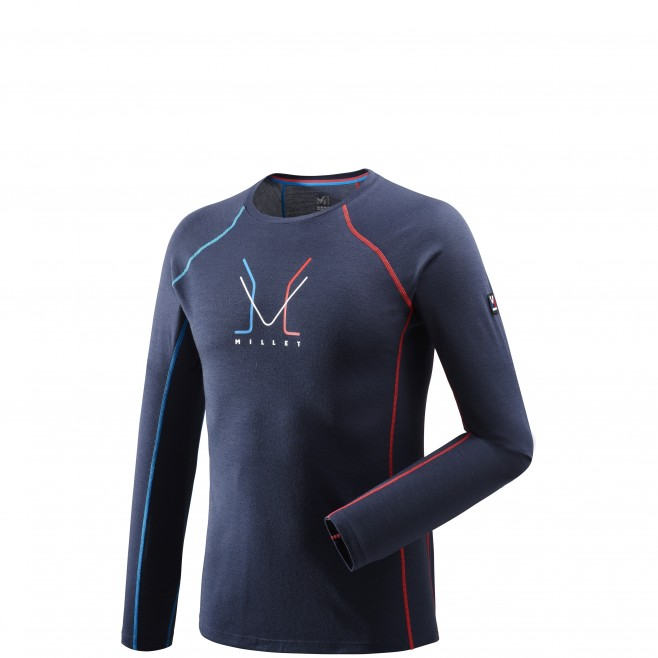 ... Men s long sleeves t-shirt - mountaineering - navy-blue TRILOGY WOOL TS  LS ... a25054d1e