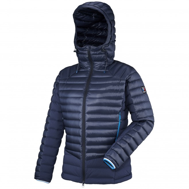 Women's down jacket - mountaineering - navy-blue LD TRILOGY DUAL SYNTH'X DOWN HOODIE Millet