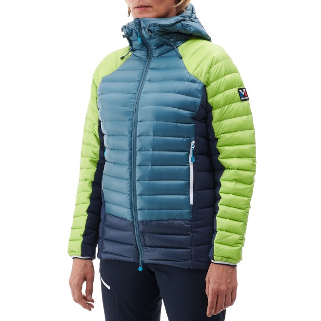 Women's down jacket - mountaineering - blue LD TRILOGY DUAL SYNTH'X DOWN HOODIE Millet 2
