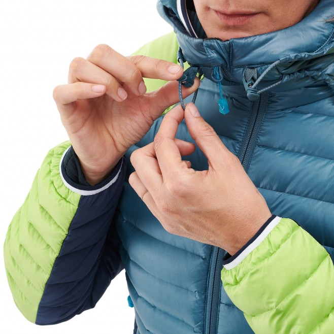 Women's down jacket - mountaineering - blue LD TRILOGY DUAL SYNTH'X DOWN HOODIE Millet 5