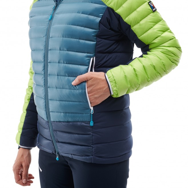 Women's down jacket - mountaineering - blue LD TRILOGY DUAL SYNTH'X DOWN HOODIE Millet 6