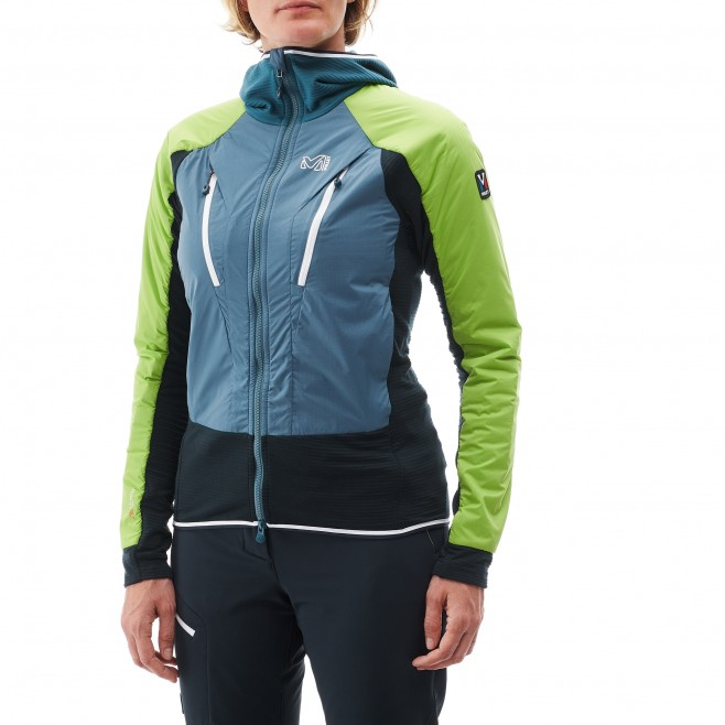 Women's warm jacket - mountaineering - blue LD TRILOGY DUAL ALPHA D HOODIE Millet 3