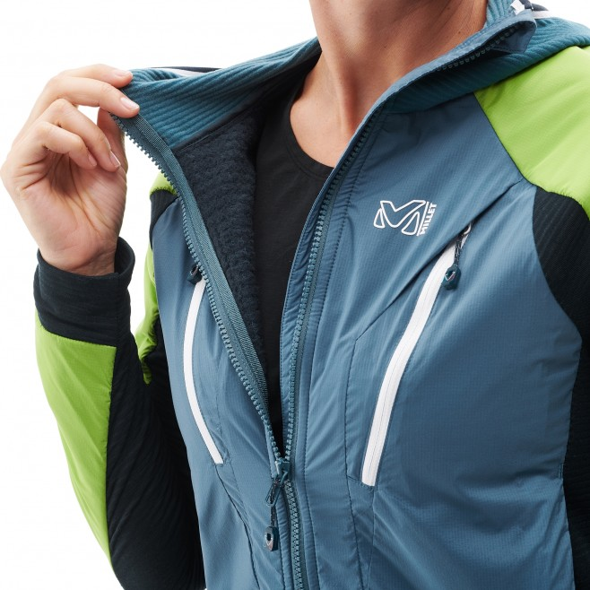 Women's warm jacket - mountaineering - blue LD TRILOGY DUAL ALPHA D HOODIE Millet 2
