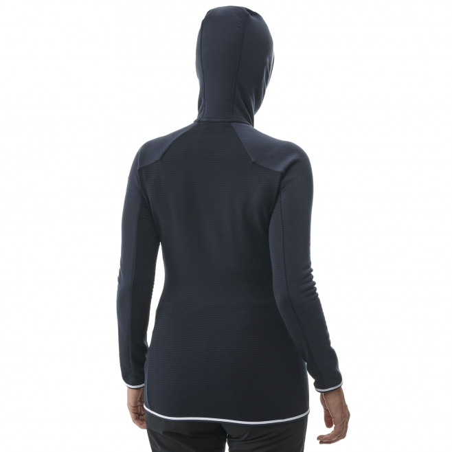 Women's warm fleece jacket - mountaineering - navy-blue LD TRILOGY DUAL WOOL HOODIE Millet 3