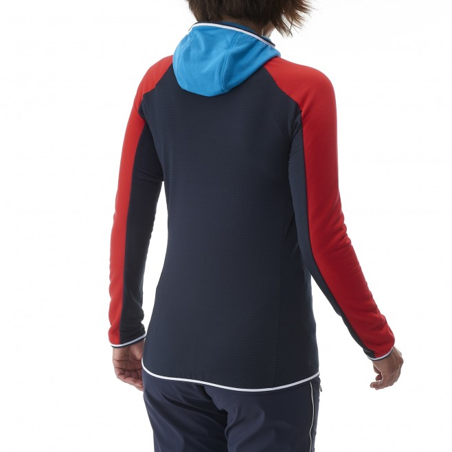 Women's warm fleece jacket - mountaineering - navy-blue LD TRILOGY DUAL WOOL HOODIE Millet 6