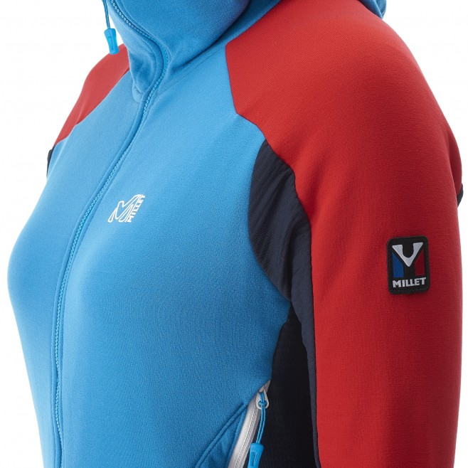 Women's warm fleece jacket - mountaineering - navy-blue LD TRILOGY DUAL WOOL HOODIE Millet 4