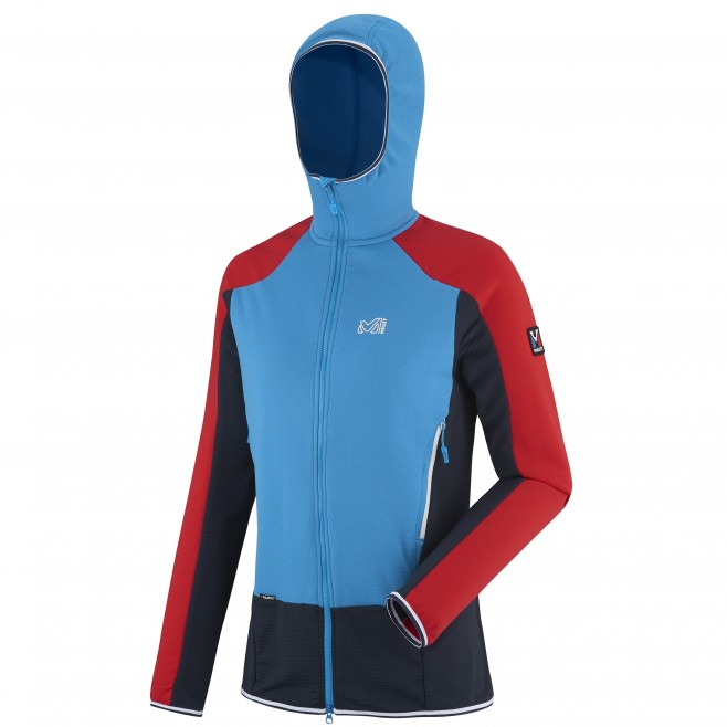 Women's warm fleece jacket - mountaineering - navy-blue LD TRILOGY DUAL WOOL HOODIE Millet