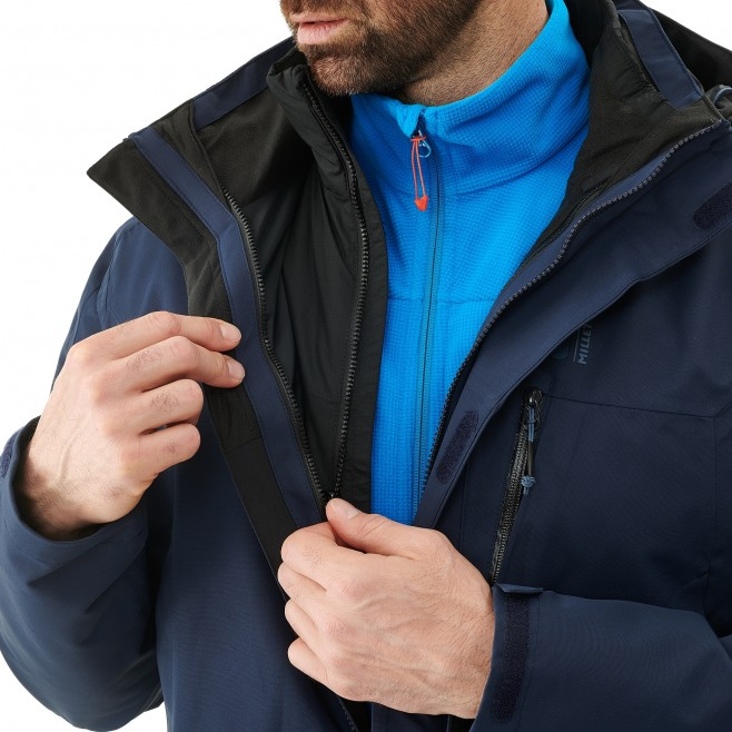 Men's 3 in 1 jacket - hiking - navy-blue POBEDA II 3 IN 1 JKT Millet 4