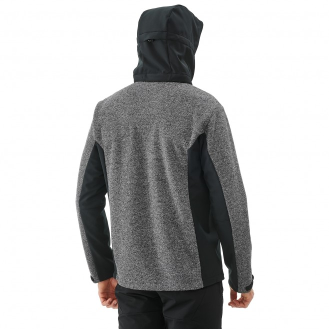 Men's softshell jacket - hiking - grey PAYUN HOODIE Millet 3