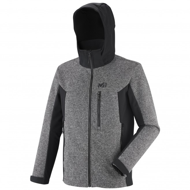 Men's softshell jacket - hiking - grey PAYUN HOODIE Millet