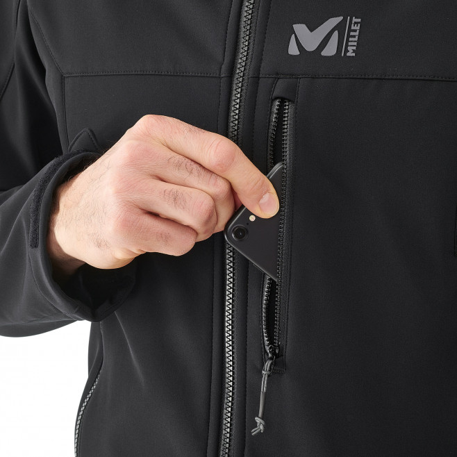 Men's softshell jacket - black TRACK HOODIE Millet 6
