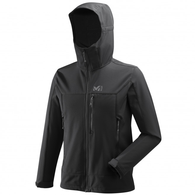 Men's softshell jacket - black TRACK HOODIE Millet