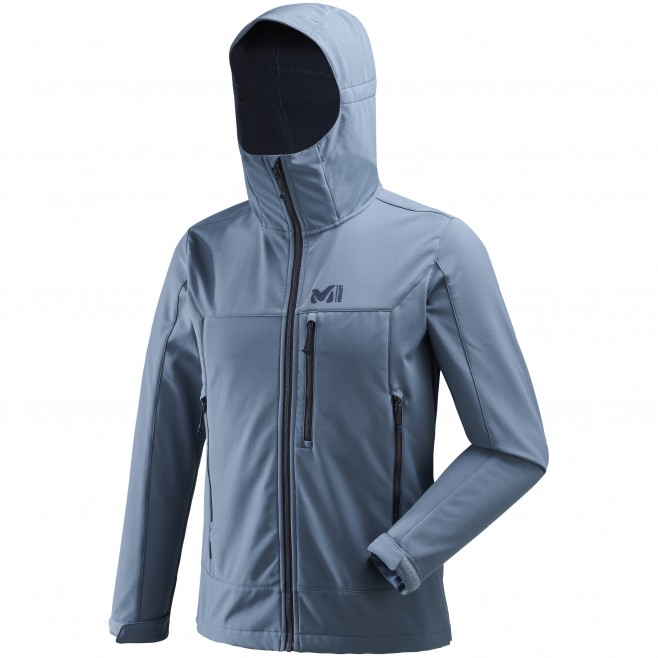 981e71935 ... Men's softshell jacket - hiking - blue TRACK HOODIE Millet ...